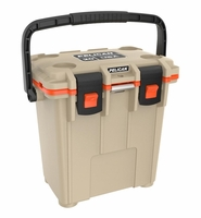 Pelican Elite Cooler Tan and Orange 20 Qt
