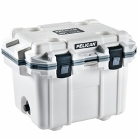 Pelican Elite Cooler White and Gray 30 Qt