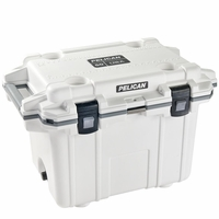 Pelican Elite Cooler White and Gray 50 Qt