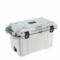 Pelican Elite Cooler White and Gray 70 Qt