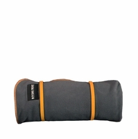 Rivers West Waterproof Windproof Outdoor Blanket Charcoal with Orange Accents