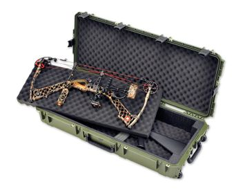 SKB iSeries Double Bow Rifle Case Green 3i-4217-DB-M