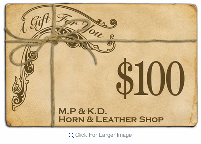 $100 Gift Certificate - Click to enlarge