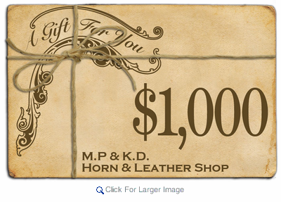 $1000 Gift Certificate - Click to enlarge