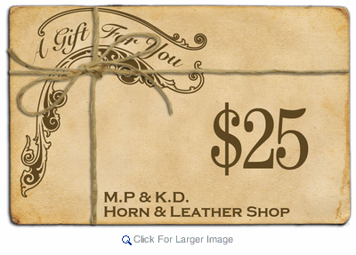 $25 Gift Certificate - Click to enlarge