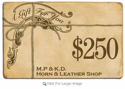 $250 Gift Certificate - Click to enlarge