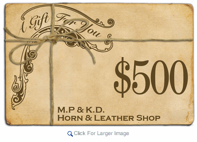 $500 Gift Certificate - Click to enlarge