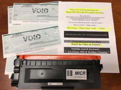 MICR - Check Print for Brother - Released  !!! (5-18-2019)