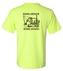 #4093 Safety Green Pocket T-Shirt with HCEA Logo on back
