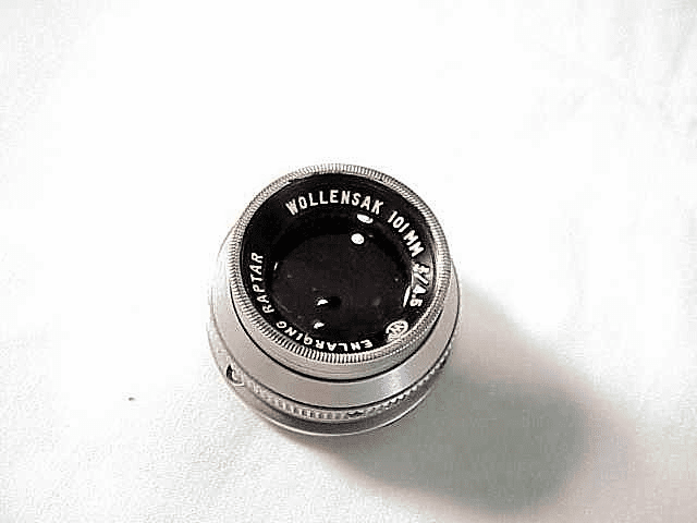 101mm f4.5 Wollensak Enlarging Raptar (No 6)