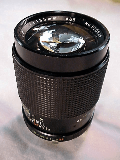 135mm f2.8 Telesor Lens for Minolta MD