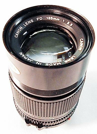 135mm f3.5 Canon New Style Mount for Canon FD