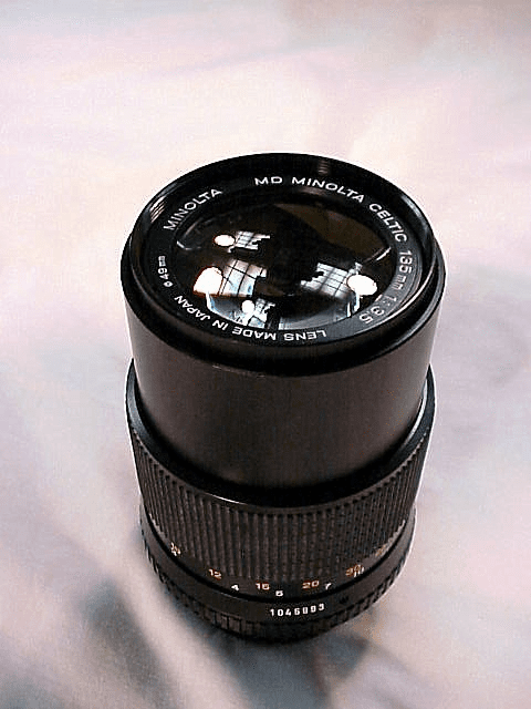 135mm f3.5 MD Minolta Celtic