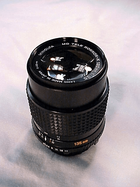 135mm f3.5 Rokkor X for Minolta MD