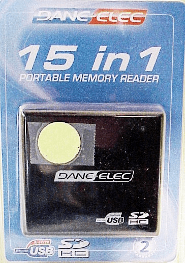 15 in 1 Dane Electric Card Reader w/ USB cable (new)