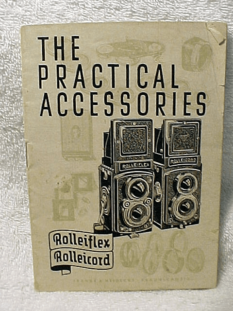 1951Rollei booklet The Practical Accessories, 15pgs (original)