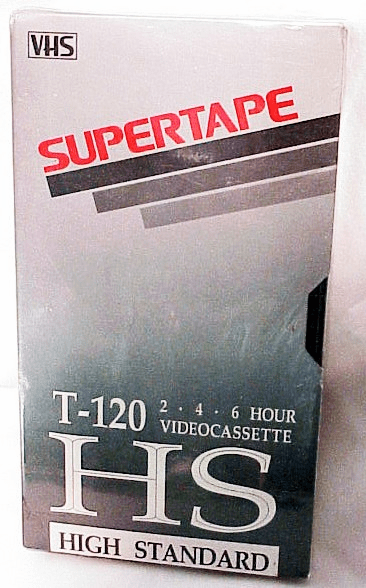 2 Hour Supertape High Standard VHS Tape