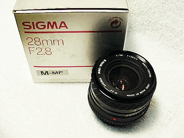 28mm f2.8 Sigma Lens for Minolta MD (New)