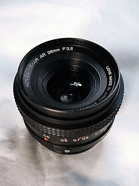 28mm f3.5 Haxar AR Lens for Konica