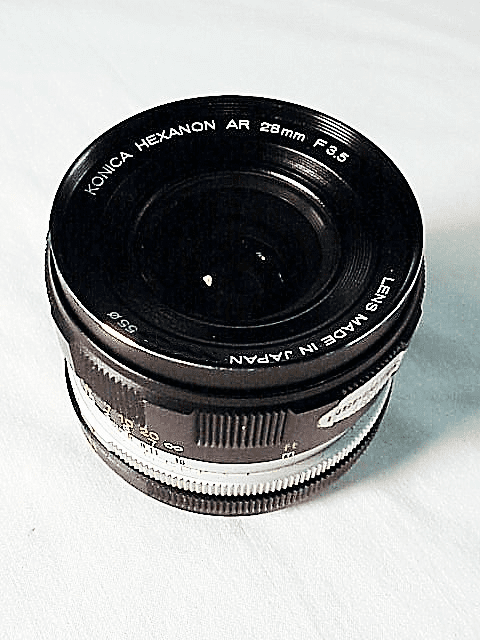 28mm f3.5 Hexanon Lens for Konica Cameras