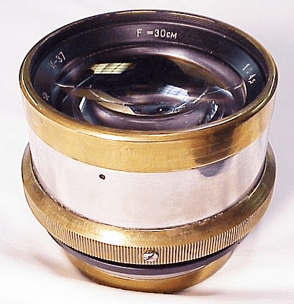 30cm f4.5 Russian Brass Military Barrel Lens