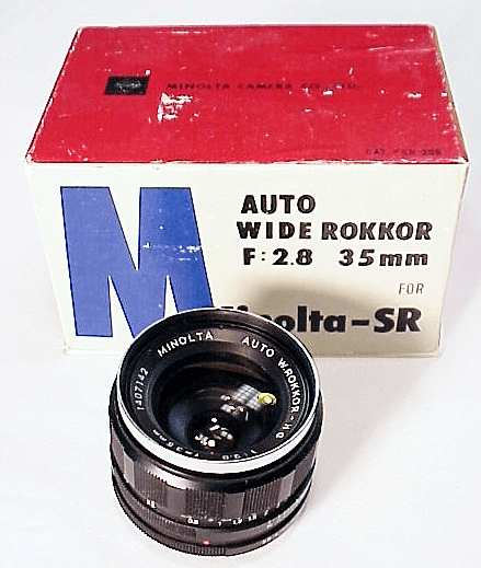 35mm f2.8 W. Rokkor-HG for SR7 Minolta