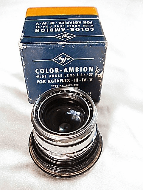 35mm f3.4 Color-Ambion for Agfaflex III IV & V in plastic case