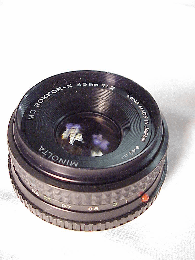 45mm f2 Minolta MD Rokkor-X  Pancake Lens for Minolta (No15)