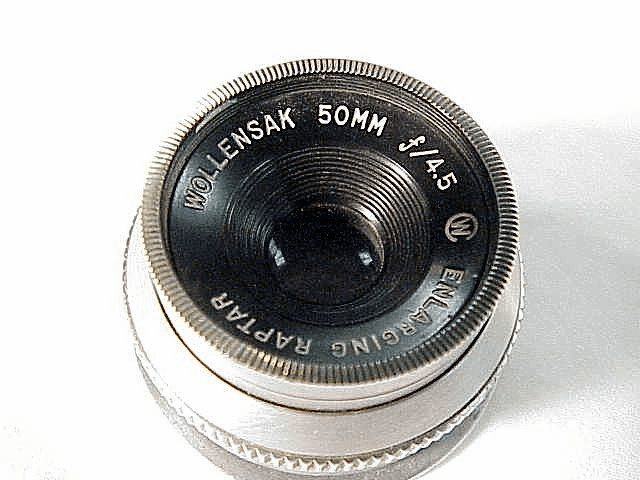 50mm f4.5 Raptar enlarging Lens with flange ring (No 23)