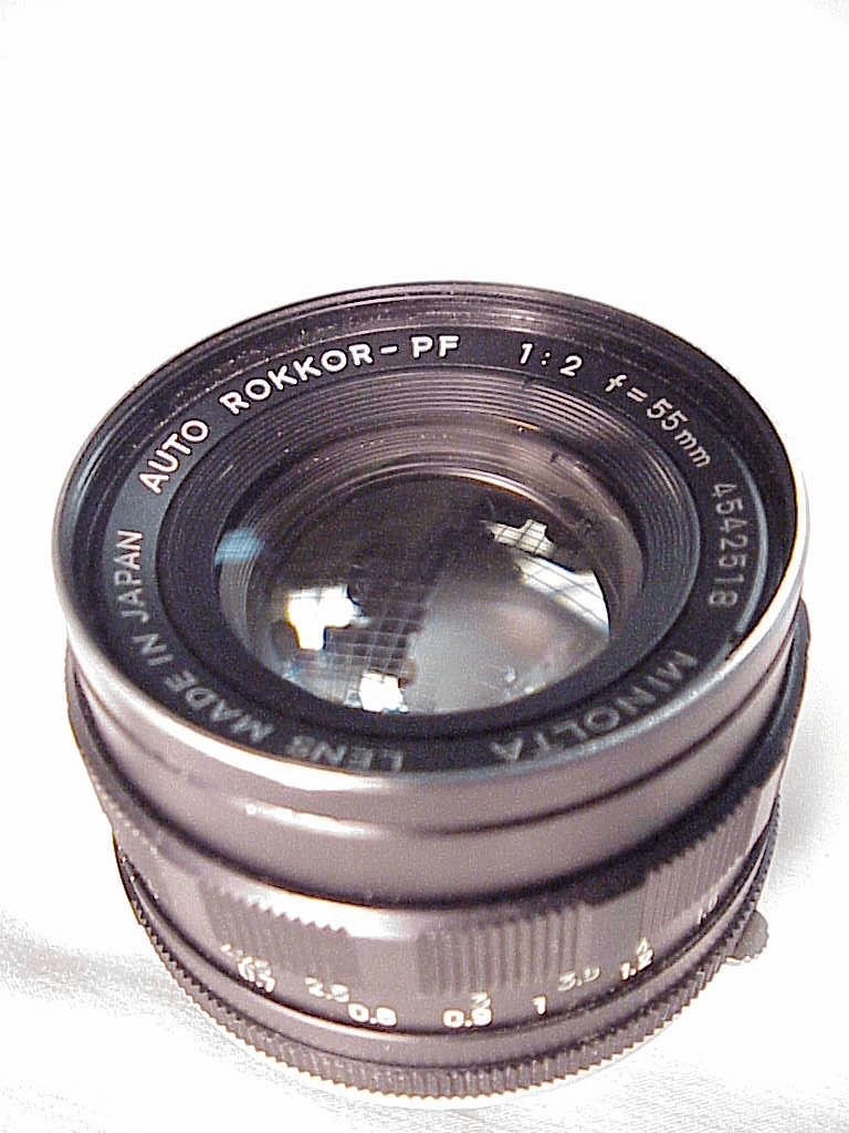 55mm f2.0 Rokkor-PF lens for Minolta MC (No 14)