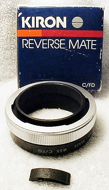 55mm (Kiron Brand) Reverse Adapter for Canon FD (new) (No 11)