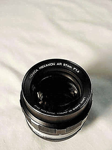 57mm f1.4 Hexanon for Konica Cameras