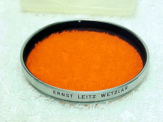 58mm Ernst Leitz Wetzlar Orange Filter (No 106)
