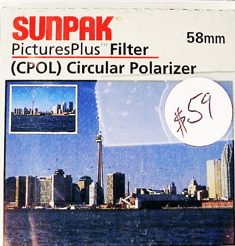 58mm Sunpak Circular Polarizer (new)