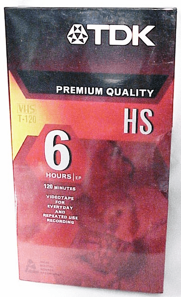 6 Hour TDK Premium Quality VHS Tape