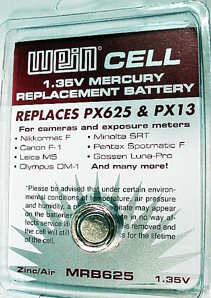 625 Wein Cell 1.35 Volts (replaces PX625)