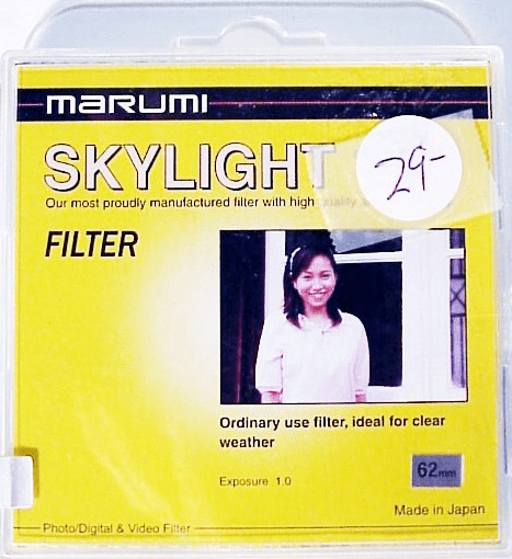 62mm Marumi Skylight Filter (new)