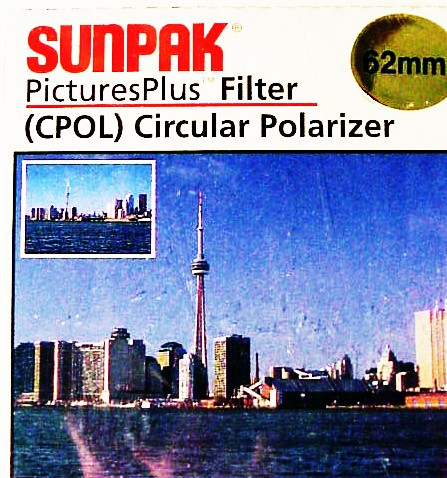 62mm Sunpak Circular Polarizer (new)