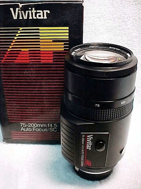 75-200mm f4.5 Auto focus Vivitar Macro Zoom for Contax 137/139  (New)