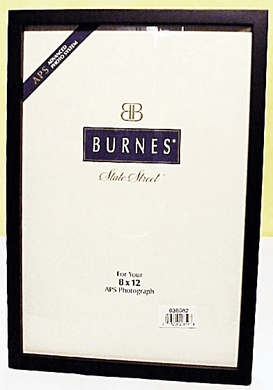 8x12 Primary Black Burnes Glassed Wooden Picture Frame