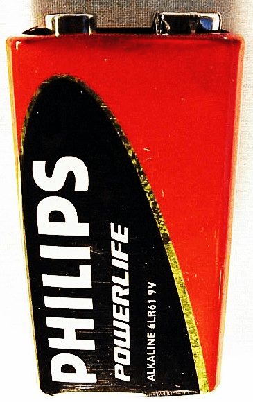 9 Volt Philips Battery (no package) (new)<br>(2012)