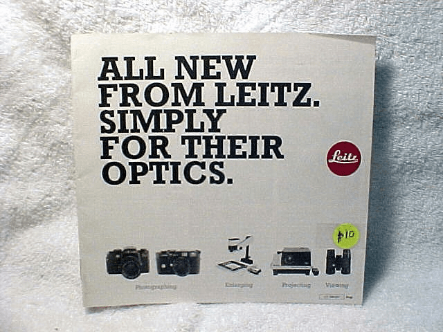 All New From Leitz. Simply For Their Optics. 23pgs, 1980.