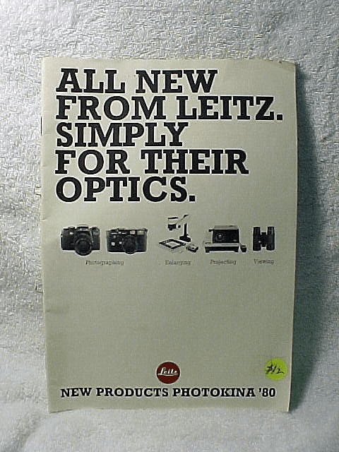All New From Leitz. Simply For Their Optics. 49pgs. 1980