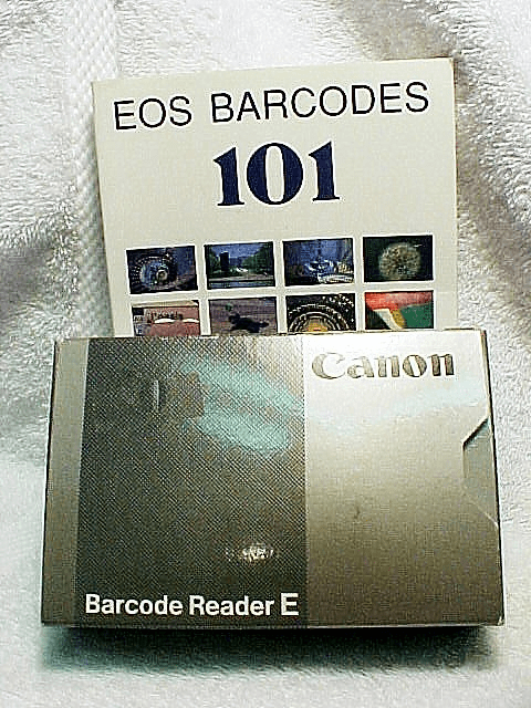 Barcode Reader E for ELAN  & Canon Book with sample barcodes