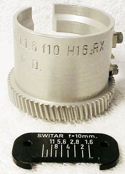 Barrel 10mm Switar 1:1,6 f10 H16 RX with Scale (No 66)