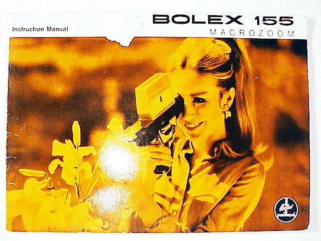 Bolex 155 Macrozoom Instruction Manual 28pg (xerox)
