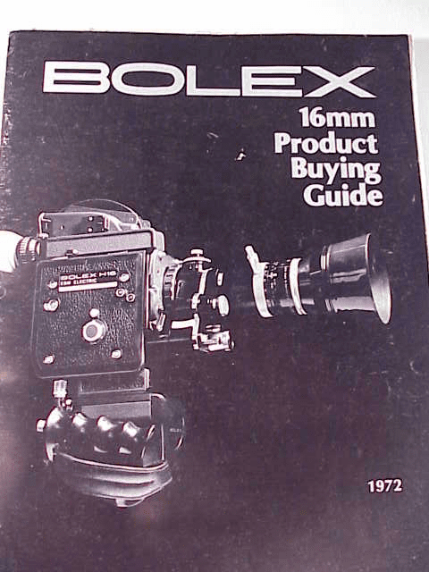 Bolex 16mm Product Buying Catalog 1972 30pg (xerox)