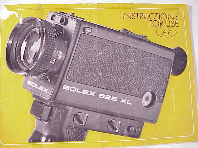 Bolex 265 Instruction Book 12pg (xerox)
