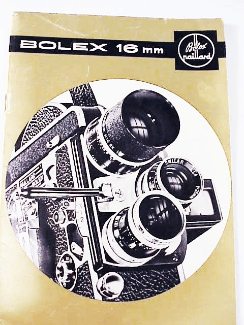 Bolex H16 Standard accessory and lens booklet 17pg (xerox)