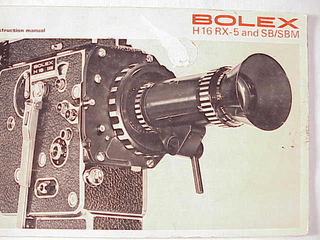 Bolex REX-5 and SB/SBM Instruction Manual 44pg (xerox)